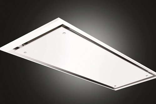 Eclipse Ceiling Hood Matt White 900 Wide