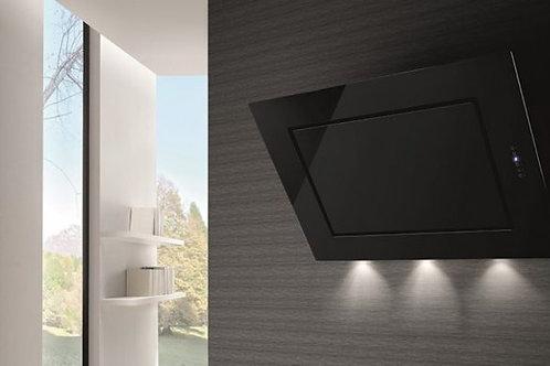 Murano-Evo Wall Hood Black Glass 900 Wide