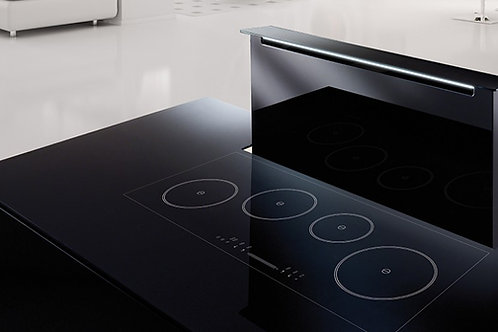 Zaira Downdraft Extractor Black Glass 1200 Wide