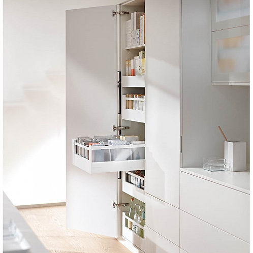 Blum Space Tower Antaro Silk White Glass & Gallery 300mm Wide