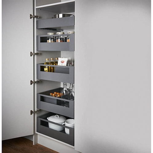 Blum Space Tower Legrabox Orion Grey With Gallery Facia 300mm Wide