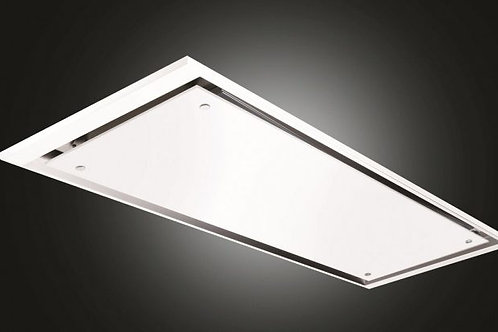 Eclipse Ceiling Hood White Glass 900 Wide
