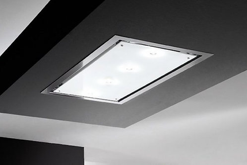 Otello Ceiling Hood White Glass Frame and Panel 1200 Wide