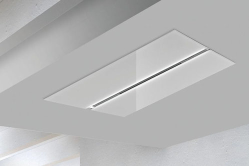 Salieri Ceiling Hood White Glass 1200 Wide