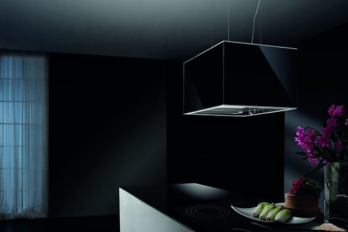 Medea Island Hood Black Glass 600 Wide