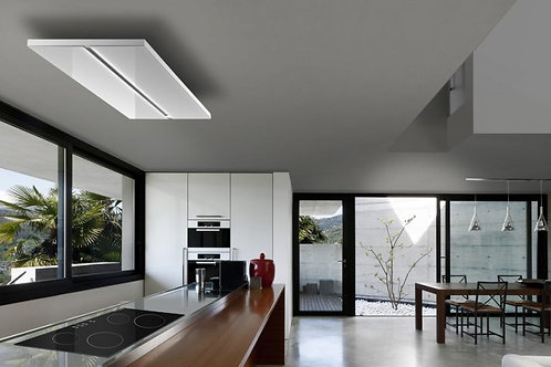 Verdi Recirculating Ceiling Hood White Glass 1200 Wide
