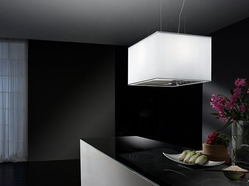 Turandot Island Hood White Glass 900 Wide