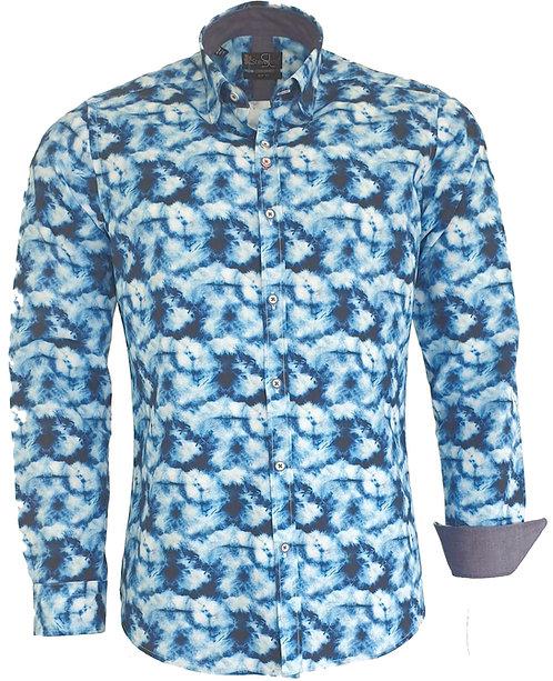 Chemise Steverline Fantaisie NOVAL tie and dye bleu