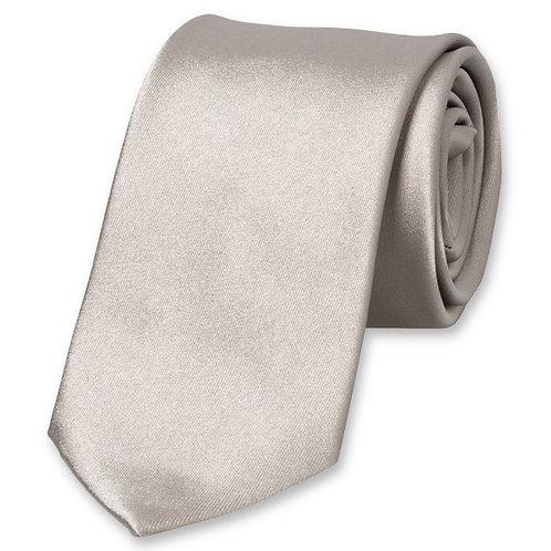 Cravate SLIM gris perle
