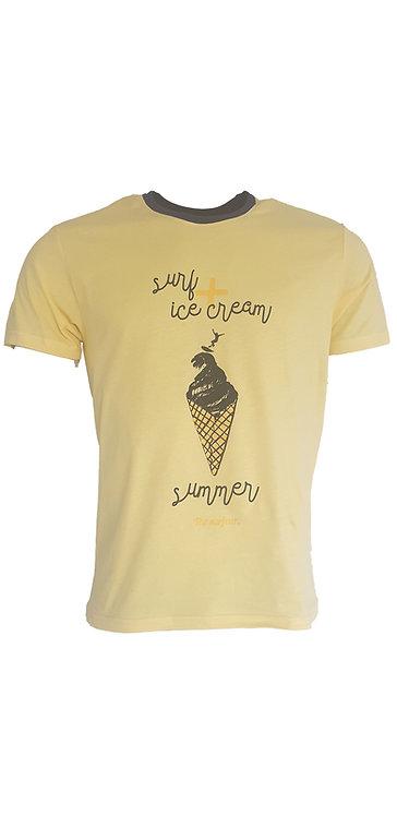 Tee-shirt Steverline 201304 ICE CREAM jaune