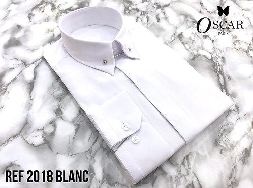 Chemise Oscar 2018 col PIN COLLAR blanc