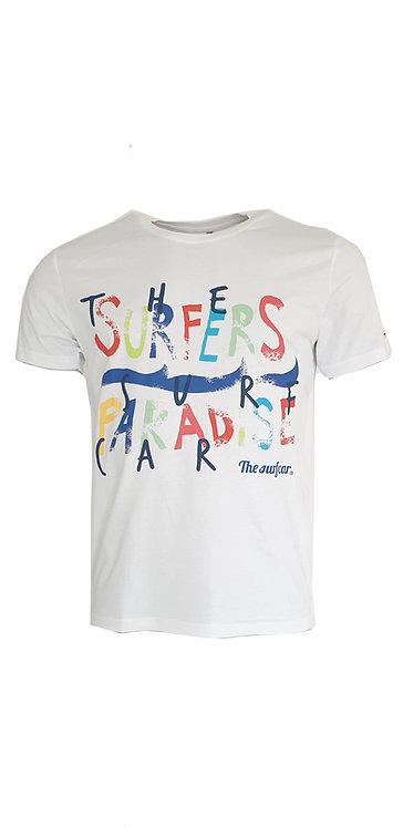 Tee-shirt Steverline 201303 SURFERS blanc