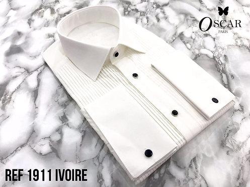 Chemise Oscar 1911 col FRANCAIS ivoire