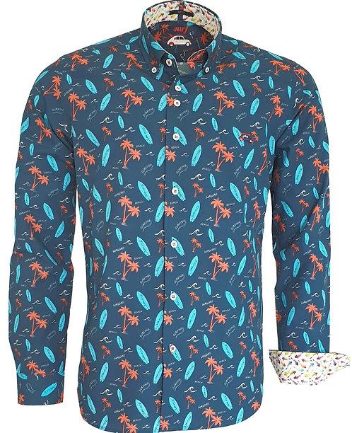 Chemise Steverline Fantaisie 201079 PADDLE turquoise