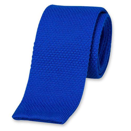 Cravate MAILLE bleu roi
