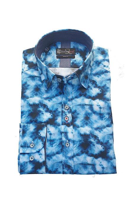 Chemise Steverline Fantaisie NOVAL REG tie and dye bleu