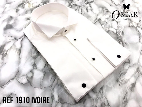 Chemise Oscar 1910 col CASSE ivoire