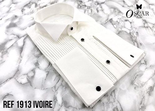 Chemise Oscar 1913 col CASSE ivoire