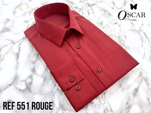 Chemise stretch ville Oscar 551 rouge