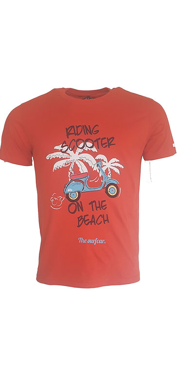 Tee-shirt Steverline 201313 RIDING rouge