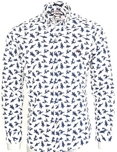 Chemise Steverline Fantaisie 201031 SHARK blanc