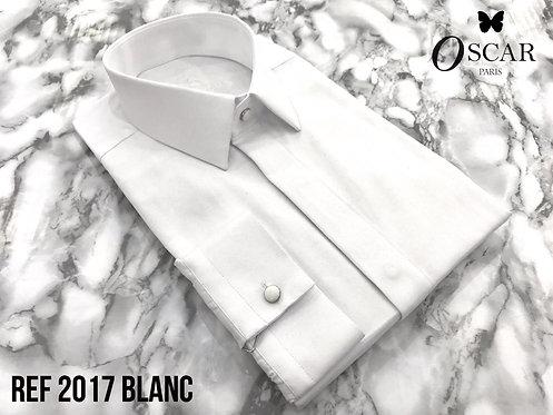 Chemise Oscar 2017 col FRANCAIS blanc