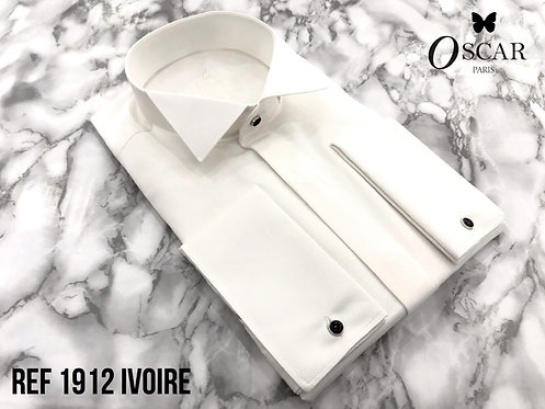 Chemise Oscar 1912 col CASSE ivoire