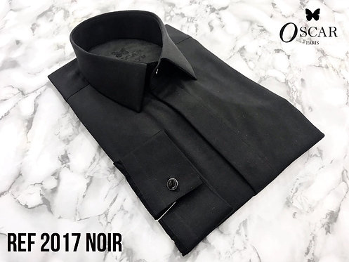 Chemise Oscar 2017 col FRANCAIS noir