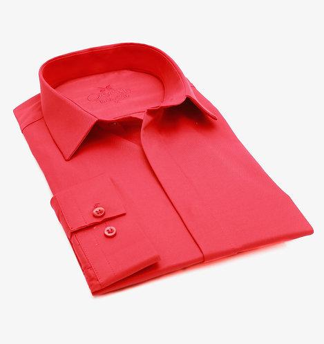 Chemise ville Oscar 550 rouge