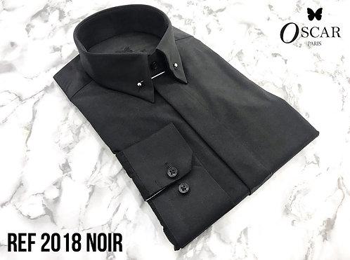 Chemise Oscar 2018 col PIN COLLAR noir