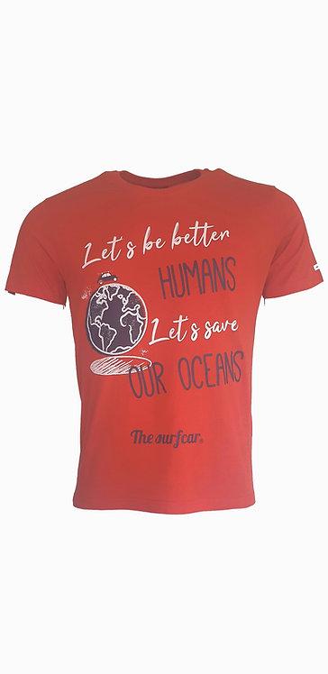 Tee-shirt Steverline 201317 HUMANS rouge