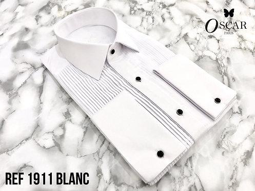 Chemise Oscar 1911 col FRANCAIS blanc