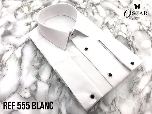 Chemise Oscar 555 PETIT COL blanc