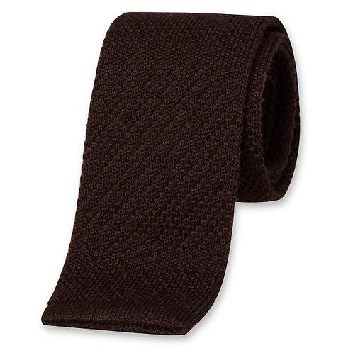 Cravate MAILLE marron