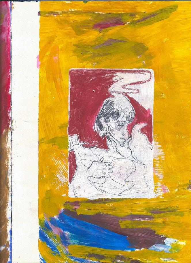 21 x 29,7 cm Acrílico, grafite e gesso sobre papel.
