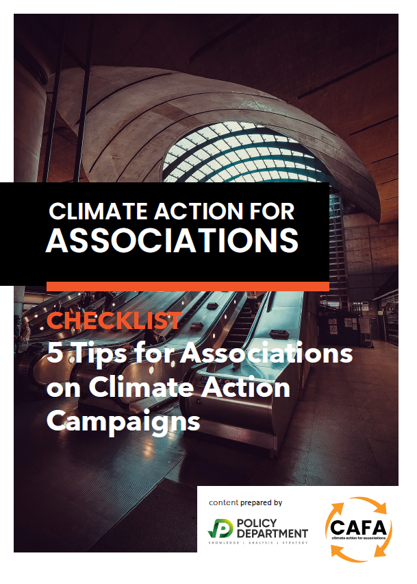PolicyDepartment-CAFA tip sheet for associations on climate action campaigns