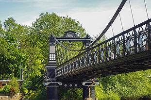 View of the Ferry Bridge also known as the Stapenhill Ferry Bridge and the River Trent, Bu