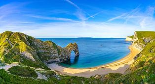 Durdle Door panorama, Dorset, Jurassic Coast, England, UK.jpg