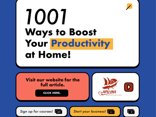 1001 Ways to Boost Your Productivity From Home