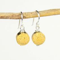Drop Concrete Earrings-Yellow $25