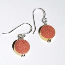 Drop Concrete Earrings-Red $25