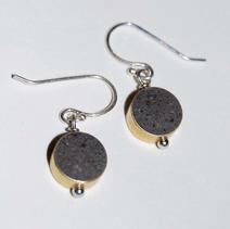 Drop Concrete Earrings-Black $25