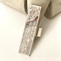 Extra Long Rectangular Design with Rough Concrete and Copper $45