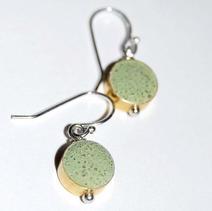 Drop Concrete Earrings-Green $25