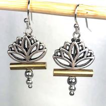 Lotus Dangle Earrings $28