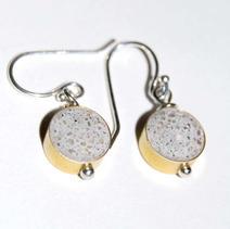 Drop Concrete Earrings-White $25