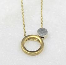 Circular, Geometric Design, Gold and Silver $35