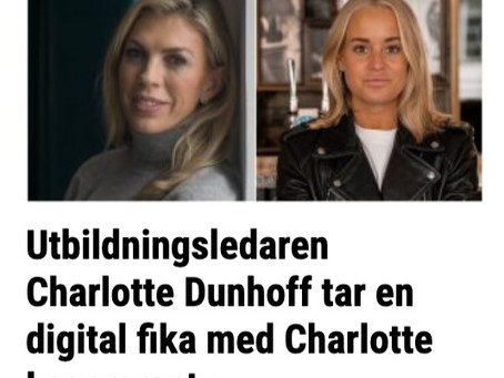 Intervju: Charlotte Dunhoff tar en digital fika med Charlotte Lagercrantz (assistent på SEB).