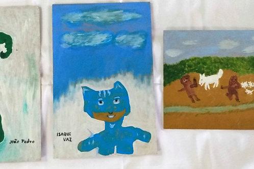 Pinturas de infância 1,2 e 3