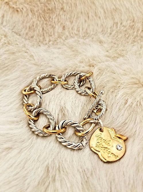 Vintage Apple Bottoms Charm Bracelet